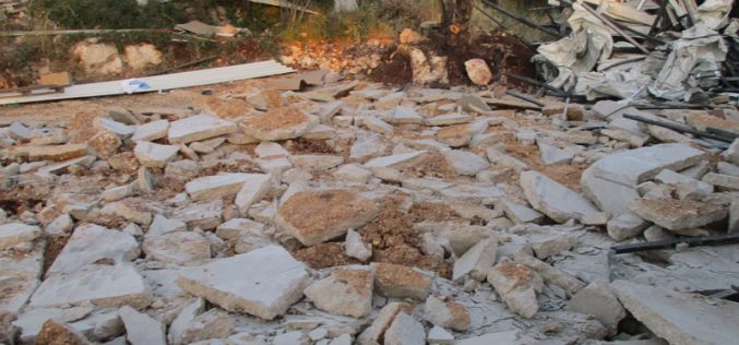 هدم منشأة صناعية في قرية حارس / محافظة سلفيت
