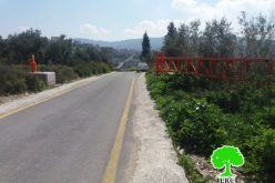 The Israeli Occupation set up a metal gate North Zuwata / Ramallah governorate