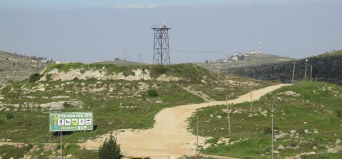 Rehabilitating a new colonial road in Ein Yabrud / Ramallah governorate