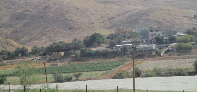 Halt o work order on an agricultural barracks east Atouf/ Tubas governorate