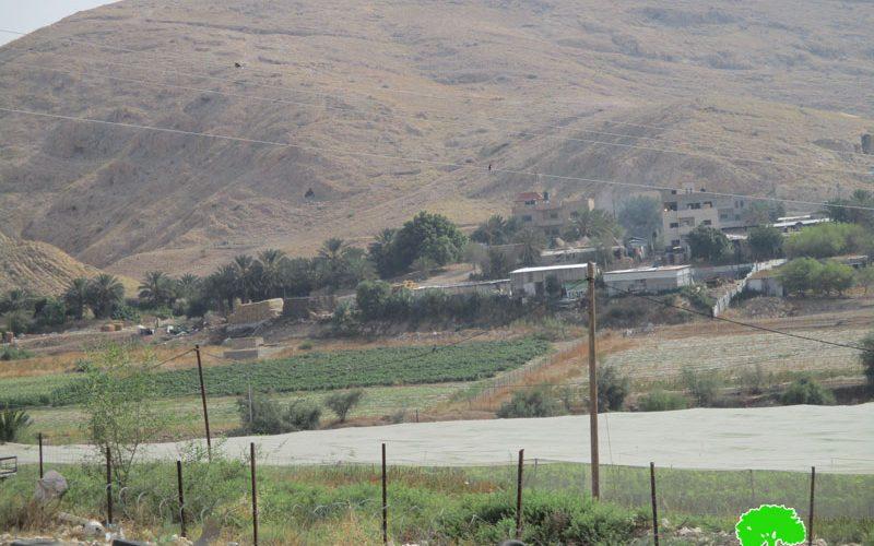 إخطار بوقف البناء يطال بركس زراعي شرق قرية عاطوف / محافظة طوباس