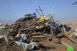 IOF demolish number of structures in the Jordan Valley area / Tubas governorate