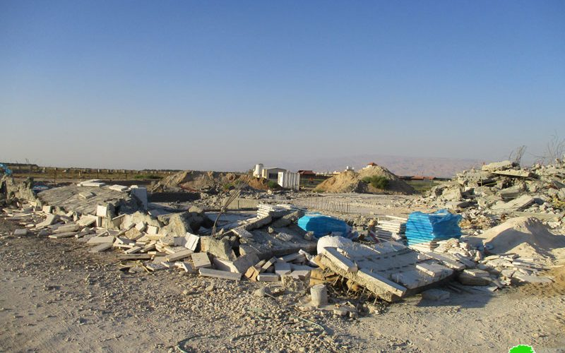 The Israeli occupation forces demolish two houses in Jericho