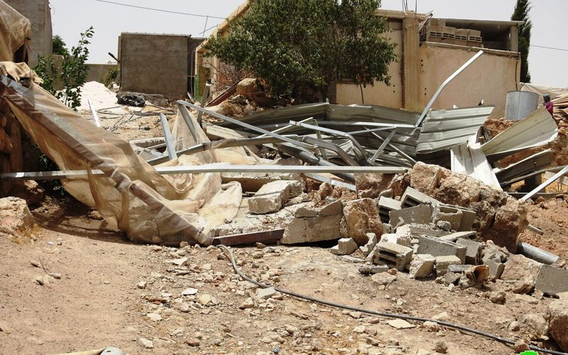 The Israeli Occupation Demolished an Agricultural Facility in Khirbet Ghuwein / Hebron