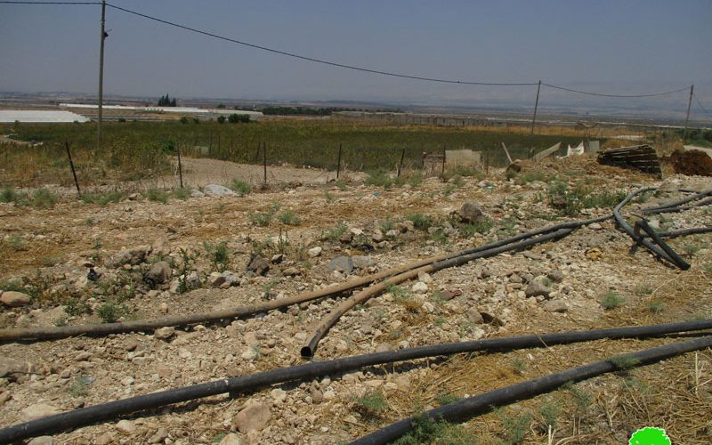 Israeli Forces Sabotage Water Pipelines in Bardala / Tubas Governorate