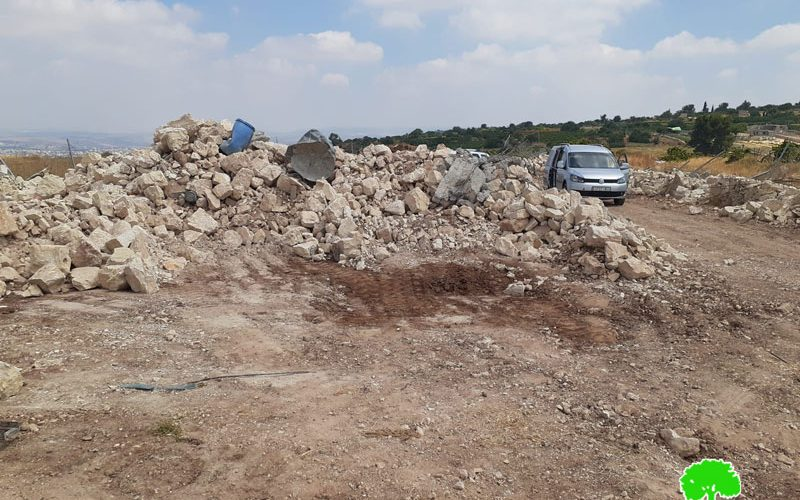 The Israeli Occupation Demolished Agricultural Structures in Tarqumiya / Hebron Governorate