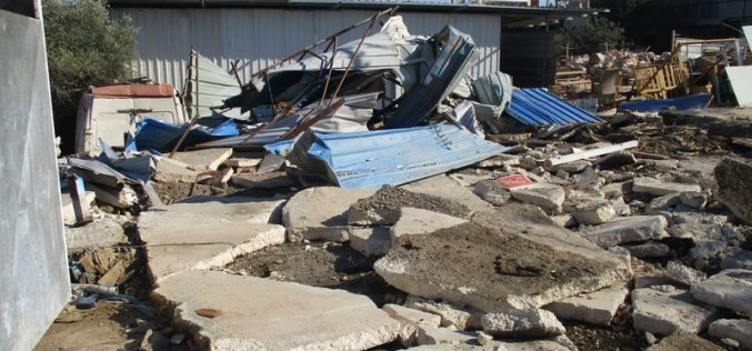 Demolition of Facilities in Haris Village / Salfit Governorate