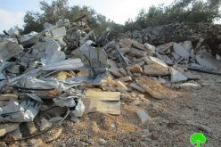 Israeli Troops Demolish a Barracks in Qaffin Village/ Tulkarim Governorate