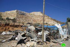 Demolition of 3 Facilities in Deir Ballut/ Salfit Governorate