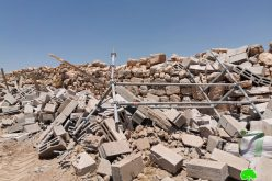 الاحتلال يهدم غرفة زراعية في البويب شرق يطا / محافظة الخليل