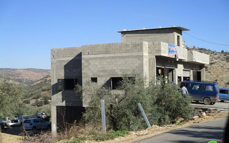 Israel to Halt Work on 5 Residential and Agricultural Structures in Beit Amin / Qalqilya Governorate