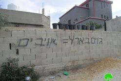 """مستعمرو """"بركان"""" الإسرائيلية يعتدون على ممتلكات الفلسطينيين في قرية سرطة / محافظة سلفيت"""