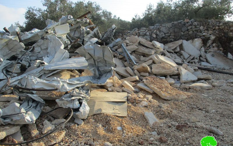Israeli Troops Demolish a Barracks in Qaffin Village/ Tulkarim Governorate