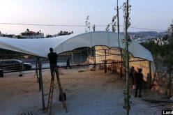 الاحتلال يهدم ويصادر مشروع زراعي في بلدة بيت أمر شمال الخليل