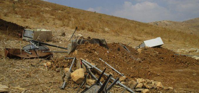 هدم مسكن ومنشآت زراعية في خربة الفاو / محافظة طوباس