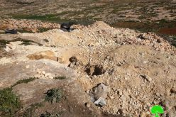 "The Occupation Force a Farmer to Dump a Cistern in ""Umm Near"" /Hebron Governorate"