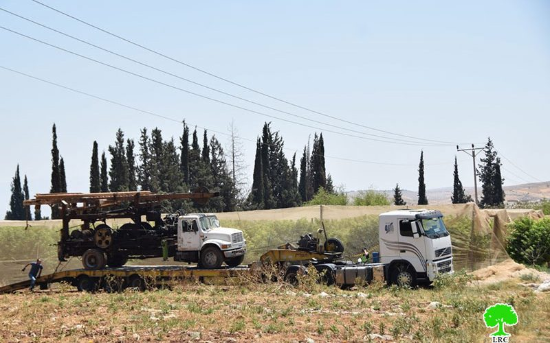 Confiscation of an Excavator in Bardala Village/ Tubas Governorate