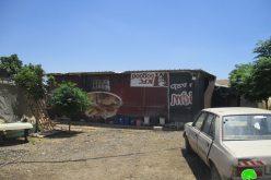 إخطارات بوقف البناء لـ 5 مساكن زراعية وخزان للمياه في الأغوار الشمالية / محافظة طوباس