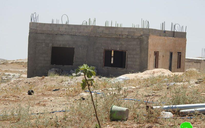 Halt of Work Order on a House in Beit Ta'mar / Bethlehem Governorate