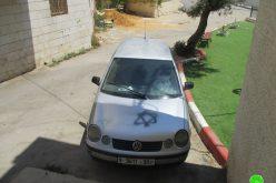 Israeli Settlers Sabotage Palestinian Properties in Haris Village