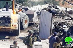 Demolition of  a barrack in Idhna town / West Hebron
