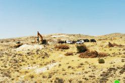 الاحتلال يهدم 4 آبار زراعية في محمية أم الخير شرق بلدة يطا / محافظة الخليل