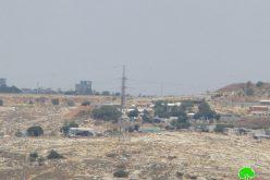 Halt of work and demolition order on 3 agricultural dunums in Ar-Ramadeen Aj-Janoubi / Qalqilya
