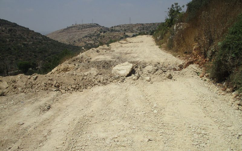 IOF ravage an agricultural road in At-Tirah / West Ramallah