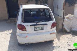 مستعمرون متطرفون يعتدون على الممتلكات الفلسطينية في قرية رافات / محافظة رام الله