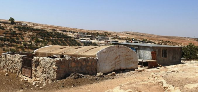 Halt of work orders on structures and facilities in She'ab Al-Butum – East Yatta