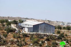 Demolition orders on a house and a facility in Beit Awwa / West Hebron