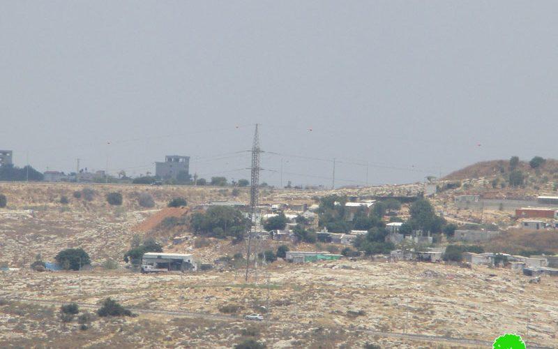 أمر بإيقاف العمل والهدم في تأهيل 3 دونمات زراعية في منطقة الرماضين الجنوبي / محافظة قلقيلية