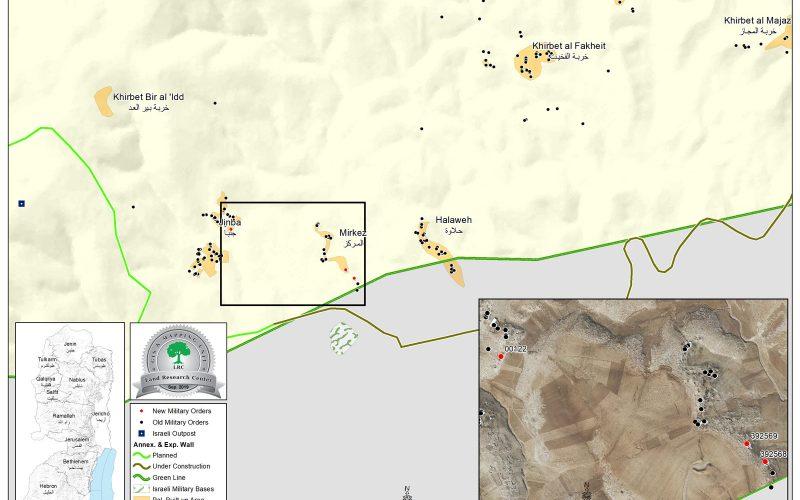 الاحتلال يهدد بهدم مساكن في جنبا والمركز بمسافر يطا / محافظة الخليل