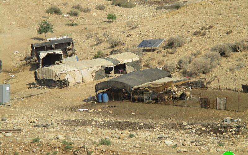 Halt of work order on tents in Khirbet Humsa Al-Fouqa / Tubas governorate