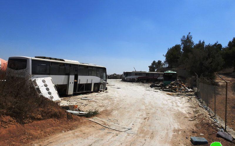الاحتلال يهدم ويصادر منشأة صناعية في دير رازح جنوب الخليل