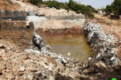 الاحتلال يهدم بركة مياه زراعية في وادي الغروس شرق الخليل