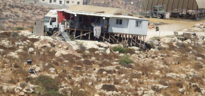 البدايات كانت في شاحنة…ست بؤر استعمارية جديدة على أراضي محافظة الخليل منذ العام 2017م