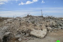 Demolishing an under construction house in At-Tayiba village / northwest Jenin