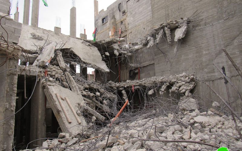 """The Israeli occupation forces demolished """"Abu Hmaid"""" family home in Al-Am'ari refugees' camp / Ramallah governorate"""