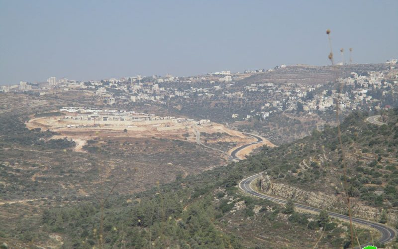 """مستعمرة """"نحلئيل"""" تتوسع على أراضي قرى رام الله"""
