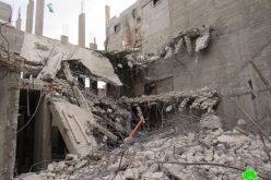 "The Israeli occupation forces demolished ""Abu Hmaid"" family home in Al-Am'ari refugees' camp / Ramallah governorate"