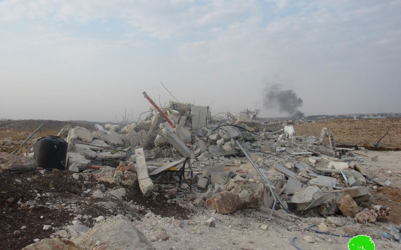 Demolishing a house in Jubara village / Tulkarim governorate