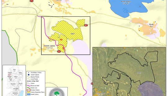 بالتزامن مع الموقف الأمريكي بتشريع الاستيطان … الاحتلال يودع مخطط لإقامة منطقة صناعية جديدة على أراضي قريتي شوفة وجبارة بطولكرم