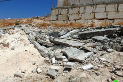The Israeli occupation demolish a Mosque and Two rooms in Jabal Jouhar / south Hebron