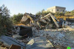 Demolition of an agricultural barracks in 'Izbet Salman / East Qalqilya