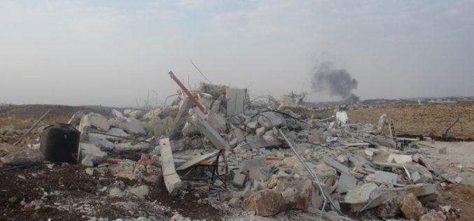 Demolishing a house in Jubara village / Tulkarim governorate