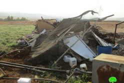 The Israeli occupation target Palestinian facilities in the Jordan valley