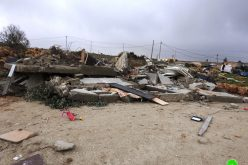 Demolishing a house in Ar-Rafai'a east Yatta / Hebron governorate
