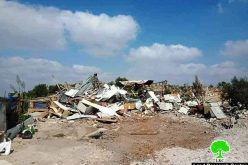 "Demolition of an agricultural room in ""Khirbet Salama"" East Tarqumiya / Hebron governorate"