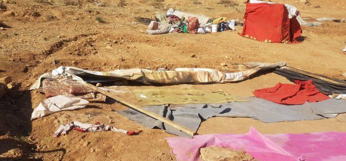 الاحتلال الإسرائيلي يهدم ويصادر منشآت زراعية وسكنية في منطقة عينون / محافظة طوباس